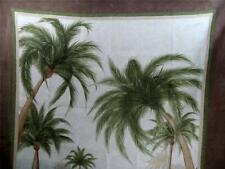 Tropical Bath Shower Curtain PALM BAY Island Theme Bathroom