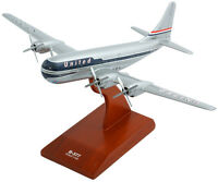 United Airlines Boeing B-377 Stratocruiser Desk Display 1/100 Model MC Airplane