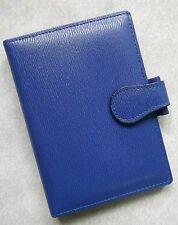 File Organiser Leather NEW ROYAL BLUE GREENWICH POCKET SIZE WALLET 15mm Diameter
