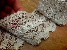"VINTAGE 3"" CLUNY LACE TRIM IVORY TAUPE 1yd"