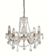 Searchlight Lighting 699-5 Marie Therese 5 Light Crystal Chandelier