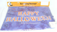 Happy Halloween Spooky Screaming Doormat Prop Makes Scary Sounds When Stepped On
