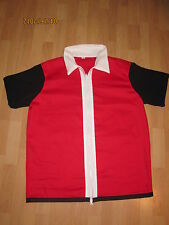 Red Ash Pokemon Trainer Costume Cosplay Super Quality Anime Adult Mens Medium Go