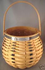 LONGABERGER HANDWOVEN GOLF CLUB BASKET SIGNED BY 2 SISTERS 2003 NEW MADE IN OHIO