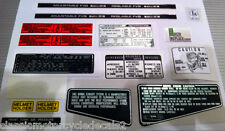 HONDA CB750F CB900F CB900FA CAUTION WARNING RESTORATION DECAL SET 15 DECALS