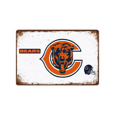 Chicago Bears Tin Metal Sign Rustic Advertising Wall Art decor