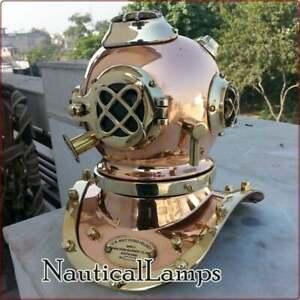U.S Navy Mark V Brass Copper Diving Diver's Helmet Collectibles Deep