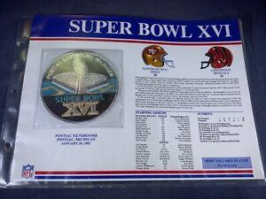 G5-56 NFL PATCH - SUPER BOWL XVI - SAN FRANCISCO 49ers / CINCINNATI BENGALS 1982