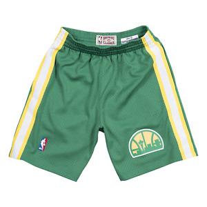 Mitchell & Ness Dark Green NBA Seattle Supersonics 1994-95 Swingman Road Shorts