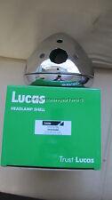 """LUCAS 7"""" FARO DELANTERO CROMADO + Amperímetro AGUJERO + warnng luz BSA TRIUMPH"""