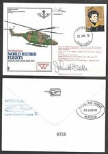 1972 Great Britain RAF Club Signed Cover - Westland Lynx Helicopter
