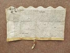 More details for 1628 warwickshire marriage settlement vellum deed document interesting content