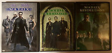 PELICULA DVD PACK MATRIX+MATRIX RELOADED 2DISCOS+MATRIX REVOLUTIONS 2 DISCOS _3