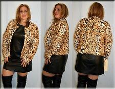 New Leopard Print Mink Fur Jacket Size Small 4 6 S Efurs4less