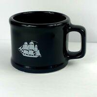 Vintage 1985 Old Spice Mug Shaving Cup Blue Heavy Shulton Handmade Taiwan