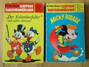 Lustige Taschenbücher Nr.1 Kolumbusfalter + Nr.6 Micky-Parade - Konvolut 2.Aufl.