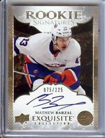 Mathew Barzal 2016-17 Exquisite Rookie Signatures RC Auto Islanders #MB 075/225