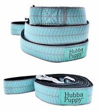 Hubba Puppy Herringbone Stitch Large 6ft Dog Leash Pets Blue Grey Nylon Durable