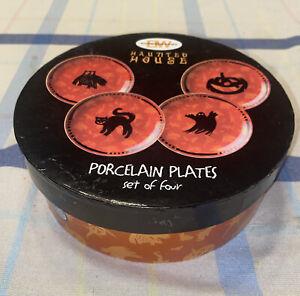 "4 Cute Halloween Plates - 6 1/2"" Round"
