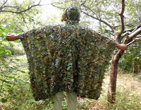 SALE 3D Bionic Tactical Yowie Sniper Camouflage Poncho Hunting Birdwatching