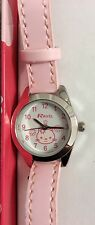 BRAND NEW GIRLS HELLO KITTY PINK ANALOGUE WATCH - FULL BATTERY