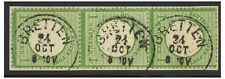 Germany 1872 Large Eagle 1KR Vertical Strip 3 Bretten Cancels Stamps FU (4-7)