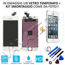 TOUCH SCREEN VETRO SCHERMO RETINA LCD DISPLAY CON FRAME PER IPHONE 5 BIANCO 5G