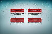 4x Sticker adesivo adesivi gps antifurto satellitare allarme jdm bomb auto r2