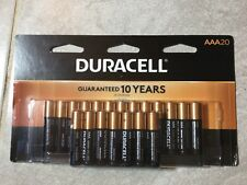 NEW March 2028 Duracell Copper Top Alkaline AAA Batteries, 20 Count