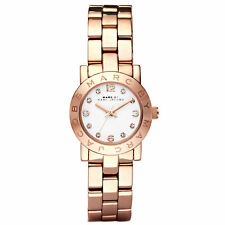 Señoras Marc Jacobs MBM3078 Mini Amy Oro Rosa Acero Inoxidable Reloj RRP £ 195