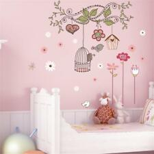 Flower Bird Wall Stickers Decals Wallpaper Mural Art Poster Decor Baby Room