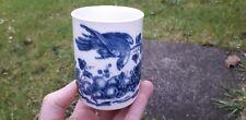 More details for caughley porcelain china antique parrot bird pecking fruit mug cup c1780-85