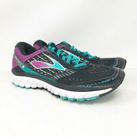 Brooks Womens Ghost 9 1202251B092 Black Purple Running Shoes Lace Up Size 9 B