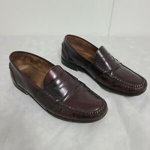 G.H. Bass & Co. Weejuns Leather Penny Loafer Burgundy Men's Shoes Size 10 1/2