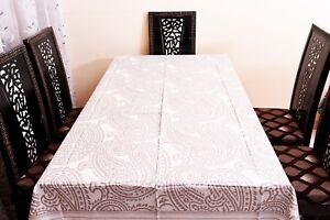 Cachemire Nappe 100% Coton Rectangulaire Vaisselle Set Housse Table Lin Art