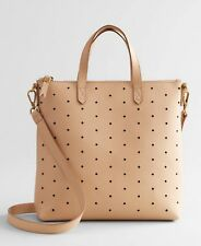NEW Madewell Mini Transport Perforated Leather Crossbody Bag, Color: LINEN, $168