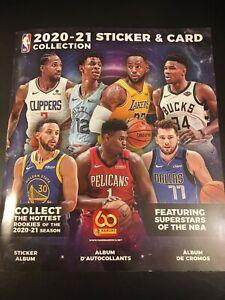 2020-21 Panini NBA Sticker & Card Collection Album + 10 Stickers - Brand New 🔥
