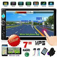 """Récepteur audio Bluetooth pour autoradio stéréo double 2din 7"""" écran tactile AUX"""