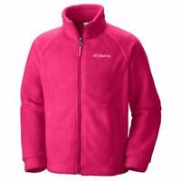 Columbia Girls Benton Springs Zip-Up 250g Fleece Winter Jacket Rose Pink XXS 4/5