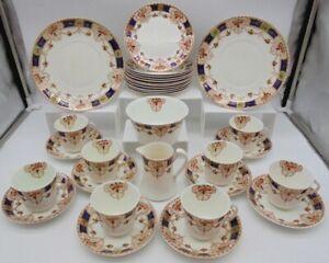 T.F.&S.L Phoenix China Tea Set Vintage Dinnerware Set x30 Pieces