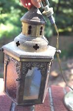 "SALE!!! VINTAGE METAL MIDDLE EASTERN STYLE HANGING LAMP: ""AS IS"""