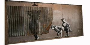 Graffiti Street Art shower girl boys Print Large Canvas licensed image BANKSY