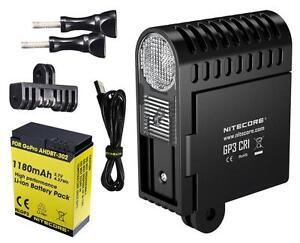 NITECORE GP3 CRI GoPro Camera Light - 270 Lumen High CRI - USB Rechargeable