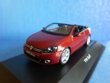VW GOLF 6 RABBIT CONVERTIBLE 2013 SUNSET RED SCHUCO 07466 1/43 ROT ROSSO ROUGE