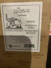 Jim Shore Flintstones Fred & Dino Prehistoric Mans Best Friend 4058335 New Rare