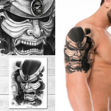 Supperb Large Temporary Tattoos - Skull Warrior