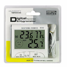 Digital LCD Outdoor Indoor Weather Thermometer Hygrometer Humidity Meter RCGA