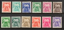 France (5997) 1946  Postage Due (Timbre-Taxe)  full set SG D985-996 V Lightly mo