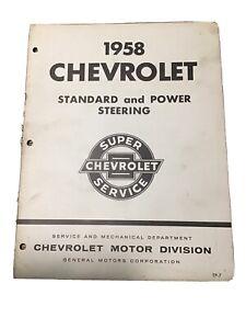 1958 Chevrolet Standard & Power Steering Manual