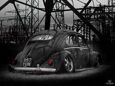 Volkswagen VW Beetle 1957 Oval Air Ride Slammed survivor classic original split